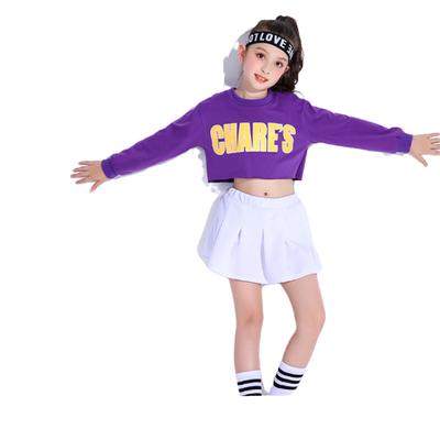 儿童爵士舞演出服装女童嘻哈街舞套装幼儿啦啦操队服健美操表演服