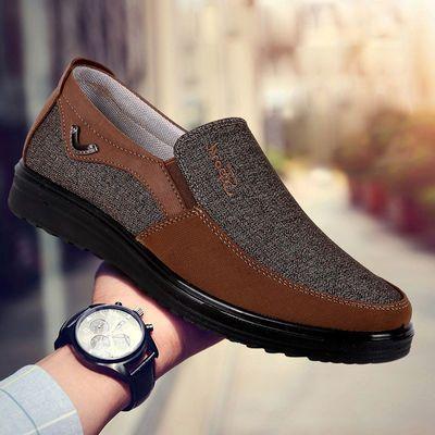 老北京布鞋男单鞋春秋款父亲鞋软底防滑中老年人爸爸鞋防臭休闲鞋
