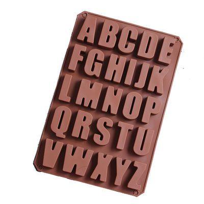 大号硅胶立体26英文字母石膏滴胶巧克力模具烘焙蛋糕模具水泥字母