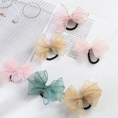 韩版多层大蝴蝶结发圈头饰发绳发夹可爱少女学生发夹鸭嘴夹头饰