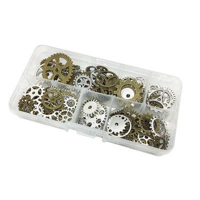 齿轮配件diy机械滴胶金属合金配件手机朋克蒸汽饰品配件混款100个