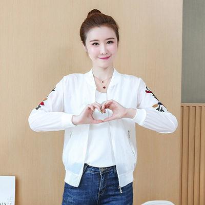 80-168斤精品刺绣防晒衣女时尚百搭韩版少女薄款短款外套女装夹克