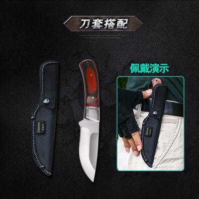 户外战术高硬度小直刀野外求生刀荒野防身随身刀具户外小刀水果刀