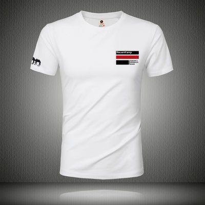 2020年夏季新款短袖t恤男士圆领大码上衣中青年莫代尔半袖打底衫