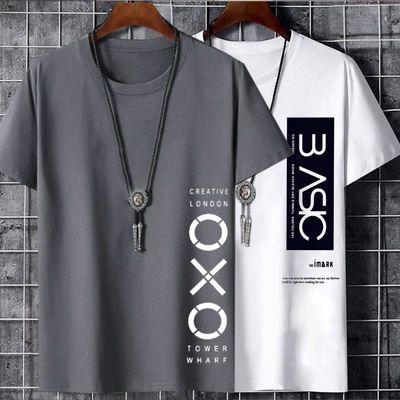 2020文艺新款男士韩版潮流短袖t恤青少年男孩学生港风情侣衣服