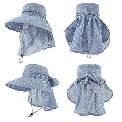 夏天防晒帽遮脸防紫外线帽子女美人2019新款凉帽戴口罩的帽子女士
