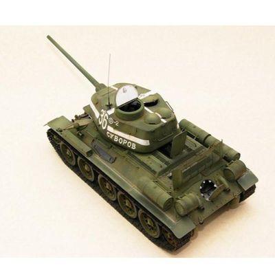 全内构小号手拼装坦克模型 1/48军事仿真苏联T34/T85坦克世界玩具