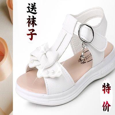 【3-12岁】女童夏季公主鞋凉鞋儿童平底沙滩鞋小女孩韩版中大童鞋