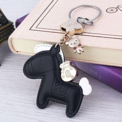 挂件韩国可爱匙扣车钥匙钥匙链车品定制上有钥匙扣小马有钱网红