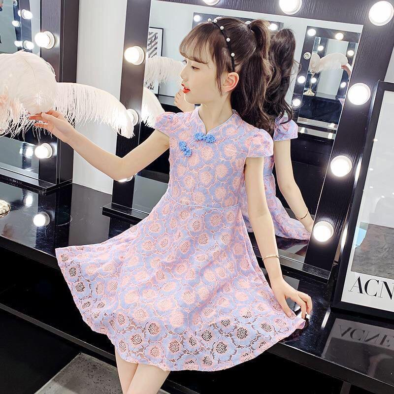 女童潮服炸街女童连衣裙夏装2021新款韩版童装夏季网红公主裙子