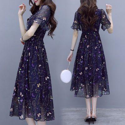 碎花雪纺连衣裙流行女装2020夏季新款气质韩版显瘦很仙的夏款裙子