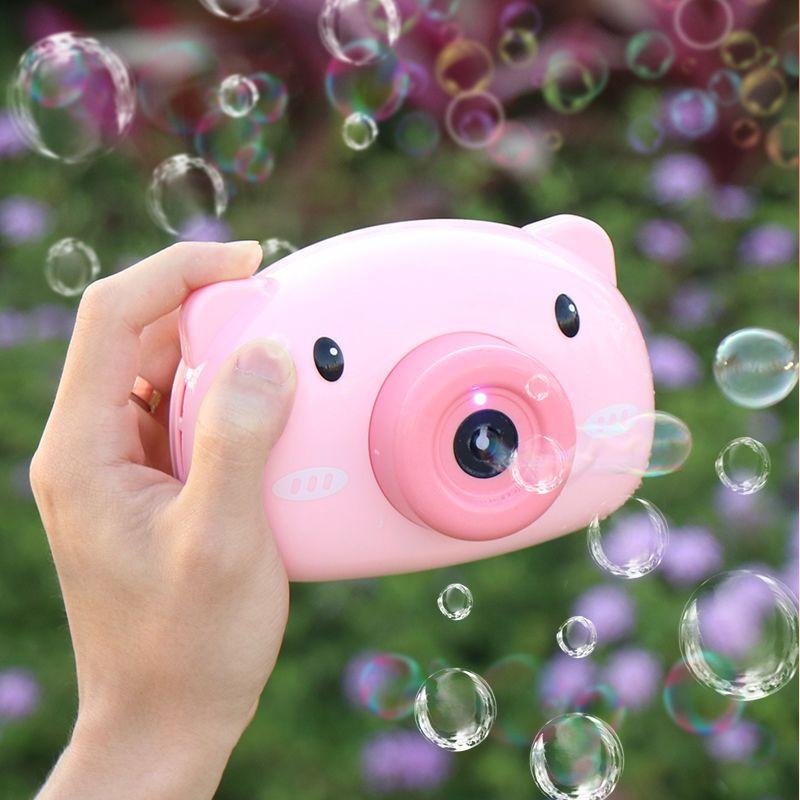 抖音同款网红玩具,爱比涵 小猪造型照相泡泡机+泡泡水2瓶 券后12.85元包邮