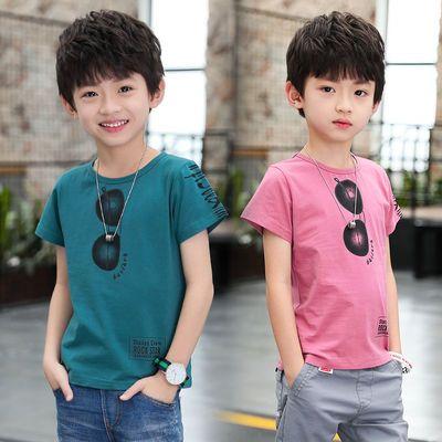 小男童2020夏新款时尚休闲短袖特色T恤中大童装半袖韩版上衣潮ins