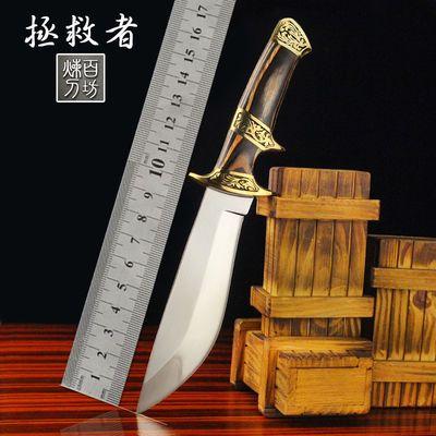 铜柄户外刀具防身军工刀荒野求生高硬度锋利战术直刀收藏刀狩猎刀