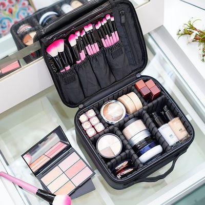 化妆包大容量专业简约便携小号韩国ins网红旅行化妆品收纳包可爱