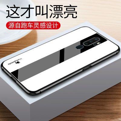 oppoa11x/a52/a92s手机壳玻璃壳男士简约超跑个性网红手机保护套