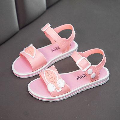 2020夏季新款女童学生公主鞋凉鞋小女孩软底防滑耐磨镂空漏趾凉鞋