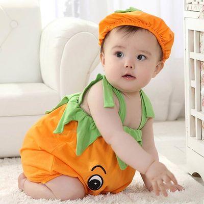 夏季婴儿连体衣造型衣宝宝哈衣新生儿爬服婴儿琵琶衣婴儿夏季衣服