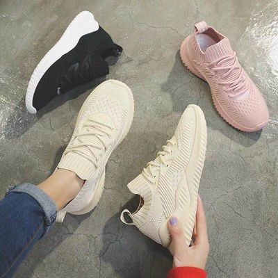 ins鞋子女春夏季新款老爹鞋女学生韩版软底袜子鞋透气百搭运动鞋