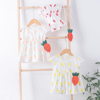 女童连衣裙2020夏季新款儿童纯棉韩版短袖宝宝1-2-3岁女孩公主裙