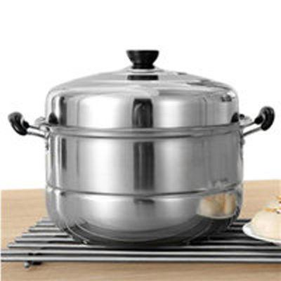 加厚不锈钢蒸锅三层加厚汤锅火锅3层二2层多层蒸笼家用电磁炉锅具