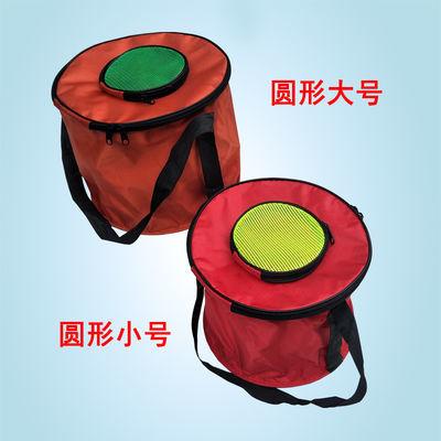 帆布水桶活鱼桶手提装鱼桶方形圆形便携折叠水箱钓鱼桶渔具用品
