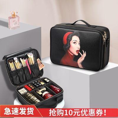 多功能收纳包便携韩国简约旅行网红皮质新款专业ins化妆包品小号