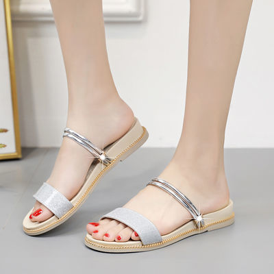 拖鞋女夏外穿新款两穿凉鞋女学生韩版软底增高鞋子仙女风凉拖鞋女