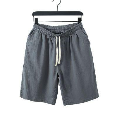 薄款棉麻休闲短裤男大裤衩夏季大码宽松中国风沙滩棉麻男士五分裤