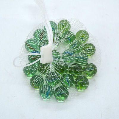 30粒 网袋装 玻璃弹珠 透明花 玻璃球 小孩玩具小珠子 鱼缸装饰品