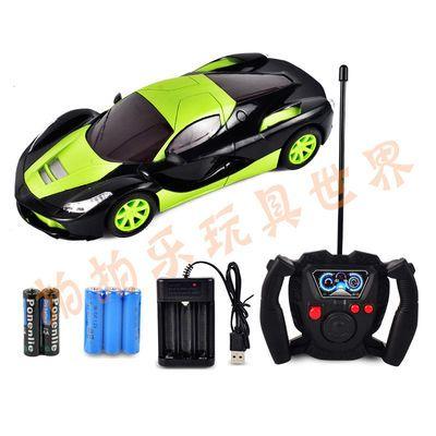 法拉利充电四通遥控车跑车漂移赛车电动带灯光儿童男孩玩具汽车