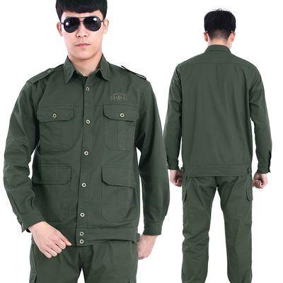 工作服男女夏装薄款棉线套装电焊上衣透气吸汗汽修耐磨工装劳保服