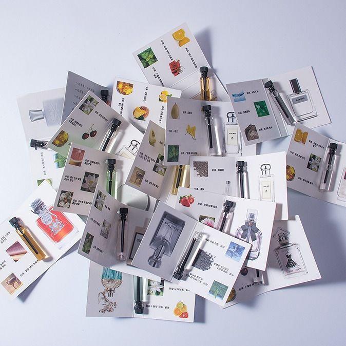 口袋香水小样卡片女士持久香水试用装2ml