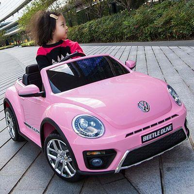 【正版授权】甲壳虫儿童电动车四轮遥控玩具童车摇摆汽车可坐人婴