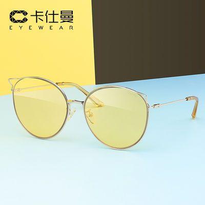 卡仕曼镂空猫眼女士太阳镜复古优雅墨镜太阳眼镜摩登时尚风CX3165
