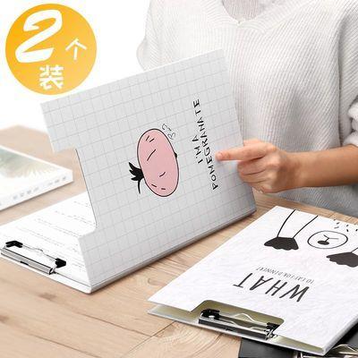 2个装A4文件夹板双板单夹学生用韩国档案资料册写字考试卷子垫板