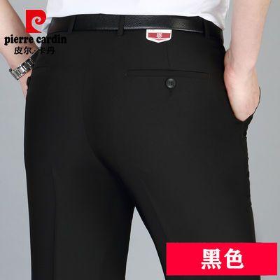 夏季新款正品男士西裤夏季薄款中年直筒宽松高腰长裤子商务休闲免