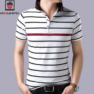 美国苹果春短袖翻领t恤韩版潮流新款男士上衣休闲半袖夏季POLO衫