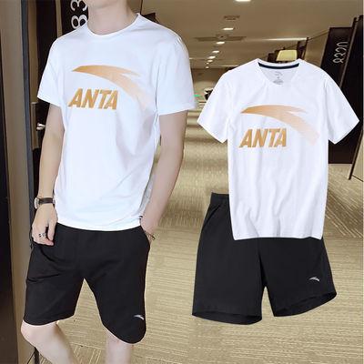 35273/安踏运动套装男正品2021夏季新款短袖t恤男透气短裤跑步运动服男