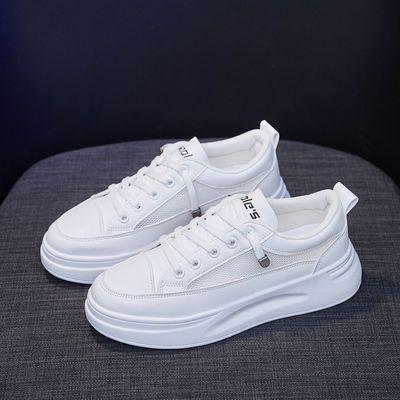 2020春季新款韩版百搭女学生鞋小白鞋运动鞋厚底松糕鞋运动休闲鞋