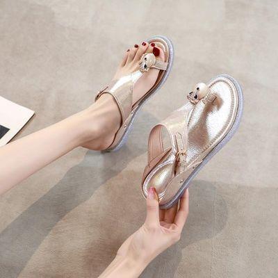 拖鞋女夏外穿时尚2020年新款女士百搭夹脚人字拖孕妇软底防滑凉拖