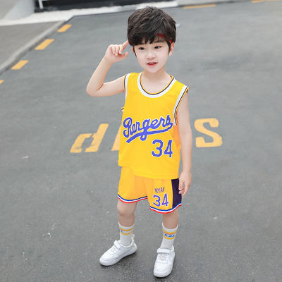 童装男小童夏装背心套装2020新款儿童夏季篮球运动服中大童洋气潮