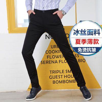 2020年春夏季黑色男士休闲裤男式休闲裤子商务男士西裤男
