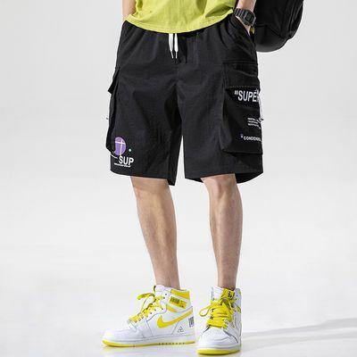 都市男装|日系2020年新款夏季新品工装短裤男休闲宽松抽绳5五分裤