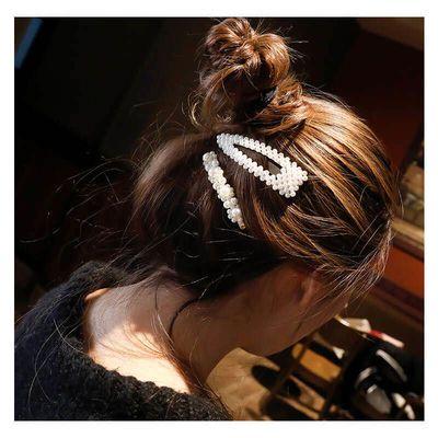 韩国ins珍珠发夹网红爆款bb夹一字夹头饰学生边夹发卡刘海夹顶夹