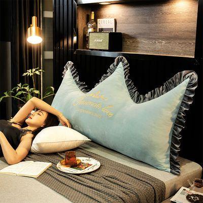 网红皇冠床头板长靠枕软包大靠背双人卧室床上公主靠垫可拆洗腰垫