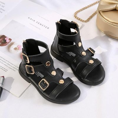 女童凉鞋高筒罗马鞋韩版公主鞋儿童凉鞋软底沙滩鞋夏季宝宝鞋
