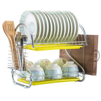 双层厨房沥水碗架置物架洗碗池晾放盘子碗碟筷餐具收纳盒储物架子