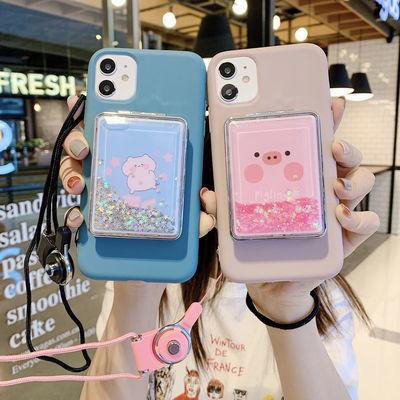 11苹果Xsmax流沙化妆镜手机壳女iPhoneX/XR/6s/7/8/plus软壳7plus