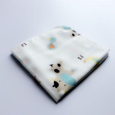 5条装纱布手帕高密双层四层纱布口水巾婴儿喂奶巾纱布方巾25/30